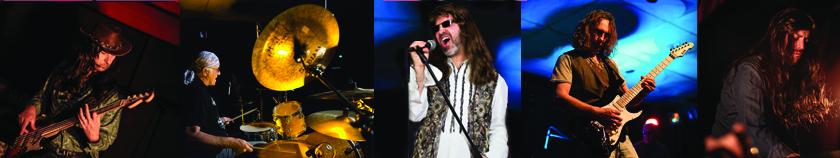 """Dans leur """"Tribute to Deep Purple"""",les membres du groupe de rock Purple Legend rendent hommage à l'un des plus grands groupes de Heavy Métal."""